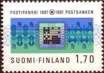 (1987) MiNr. 1009 ** - Finsko - 100 let Poštovní spořitelny