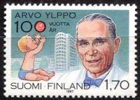 (1987) MiNr. 1031 ** - Finsko - 100. narozeniny Arvo Ylppö