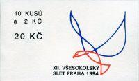 (1994) ZS 19 - Česká pošta - XII. všesokolský slet