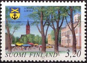 (1995) MiNr. 1304 ** - Finsko - 250 let města Loviisa