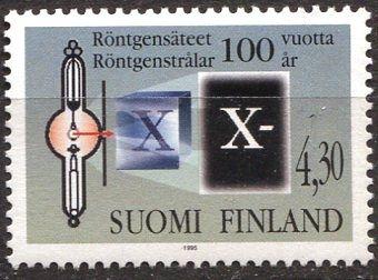 (1995) MiNr. 1309 ** - Finsko - 100. výročí objevu rentgenu