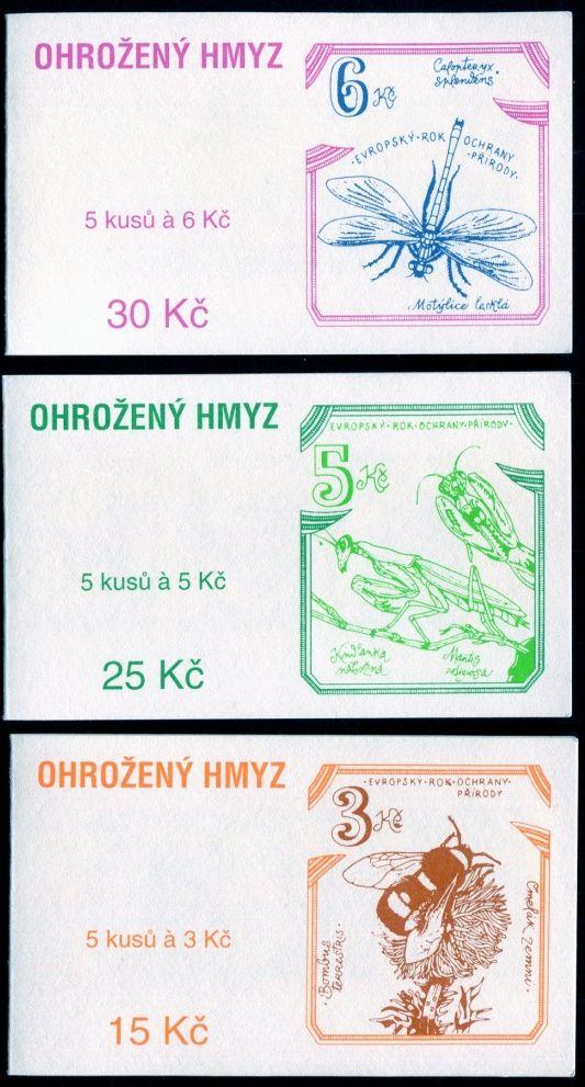 (1995) ZS 36 - 38 - Česká pošta - Ohrožený hmyz ČR