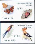 (1999) ZS 73 - 74 - Czech Post - Nature Protection - Birds and butterflies