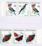 (1999) ZS 73 - 74 - Česká pošta - Ochrana přírody - Ptáci a motýli