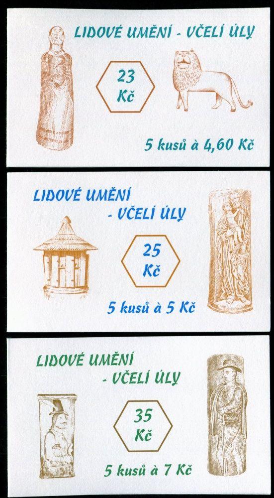 (1999) ZS 75 - 77 - Česká pošta - Lidové umění - Včelí úly