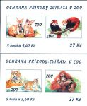 (2001) ZS 88 - 89 - Czech Post - Protecting nature - animals in the zoo