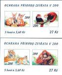(2001) ZS 88 - 89 - Česká pošta - Ochrana přírody - zvířata v ZOO