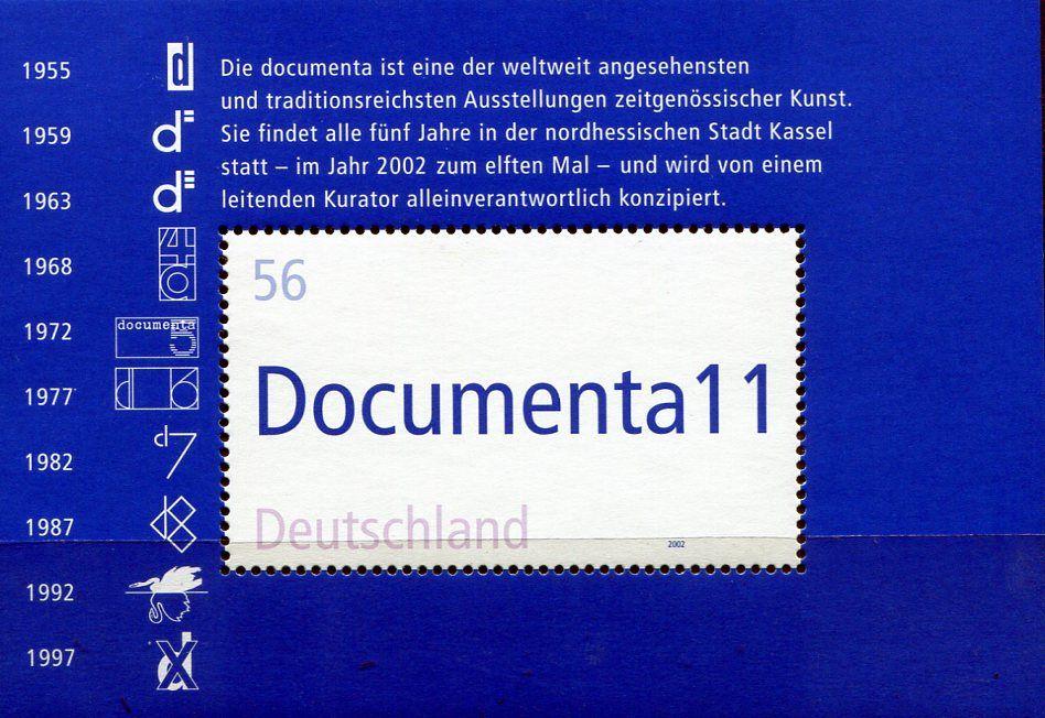(2002) MiNr. 2257 ** - Německo - BLOCK 58 - 11. Dokumentace Kasselu