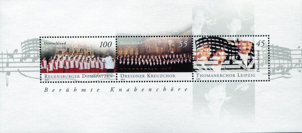 (2003) MiNr. 2318 - 2320 ** - Německo - BLOCK 61 - Slavné chlapecké sbory