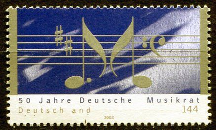 (2003) MiNr. 2346 ** - Německo - 50 let Německá hudební rada