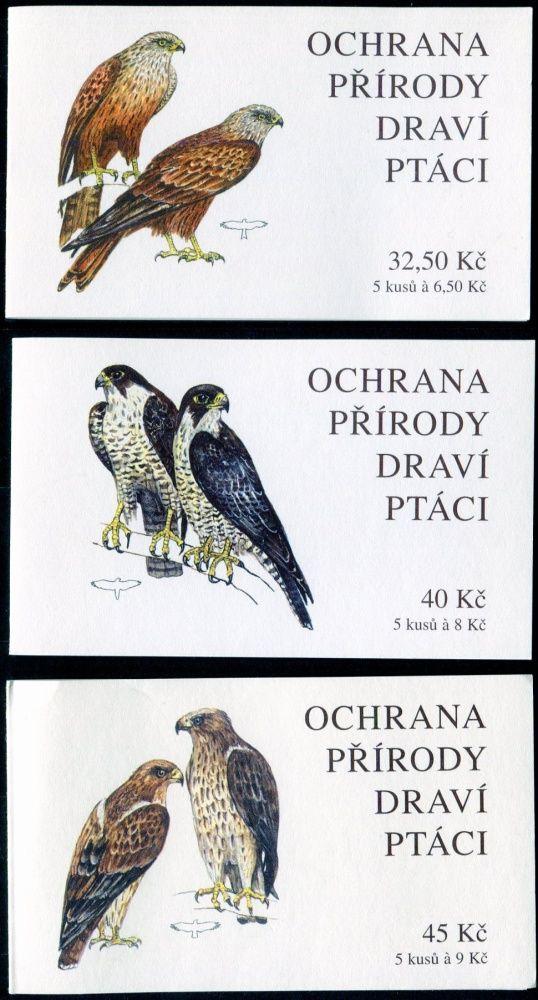 (2003) ZS 90 - 92 - Česká pošta - Ochrana přírody - Draví ptáci