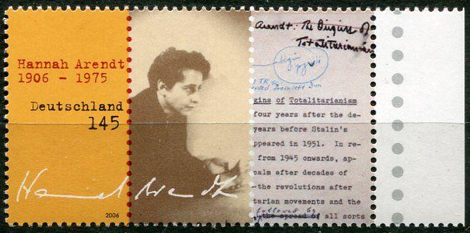 (2006) MiNr. 2566 ** - Německo - 100. narozeniny Hannah Arendtové