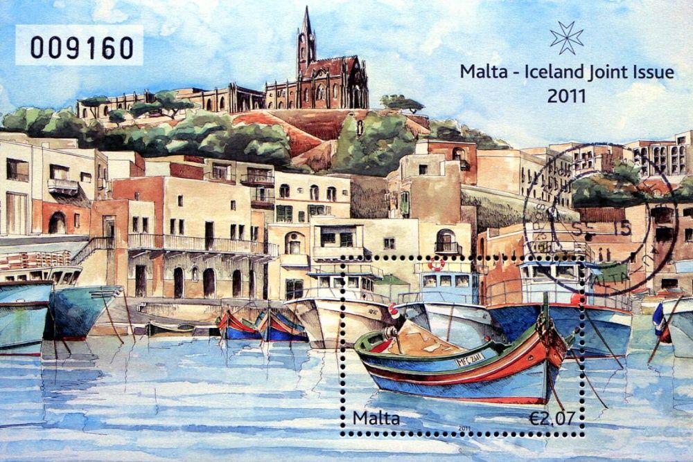 (2011) MiNr. 1361 ** - Malta - BLOCK 50 - Přátelství s Islandem - rybářská místa