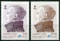 (2015) MiNr. 700 - 701 ** - Grónsko - Královna Margrethe II