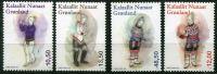 (2016) MiNr. 713 - 716 ** - Grónsko - Dámský národní kroj