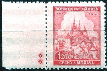 Protektorát Čechy a Morava (1941) č. 57a ** - B.u.M. - Krajiny, hrady, města - Praha - d.z. ++