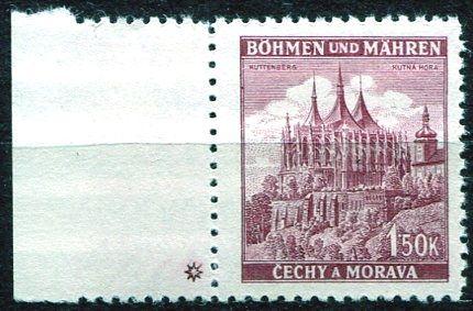 Protektorát Čechy a Morava (1941) č. 58 ** - B.u.M. - Krajiny, hrady, města - Kutná Hora - d.z. *