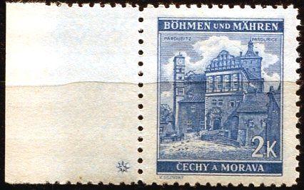 Protektorát Čechy a Morava (1941) č. 59 ** - B.u.M. - Krajiny, hrady, města - Pardubice - d.z. +
