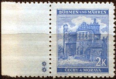 Protektorát Čechy a Morava (1941) č. 59a ** - B.u.M. - Krajiny, hrady, města - Pardubice - d.z. **