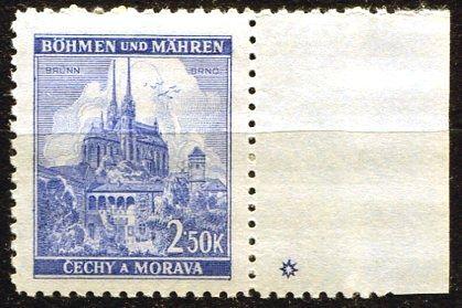 Protektorát Čechy a Morava (1941) č. 60 ** - B.u.M. - Krajiny, hrady, města - Brno - d.z. *
