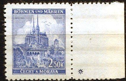 Protektorát Čechy a Morava (1941) č. 60 ** - B.u.M. - Krajiny, hrady, města - Brno - d.z. +