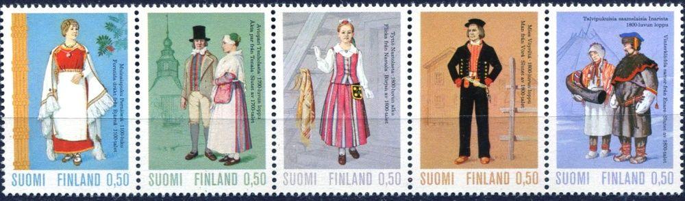(1972) MiNr. 710 - 714 ** - Finsko - kroje