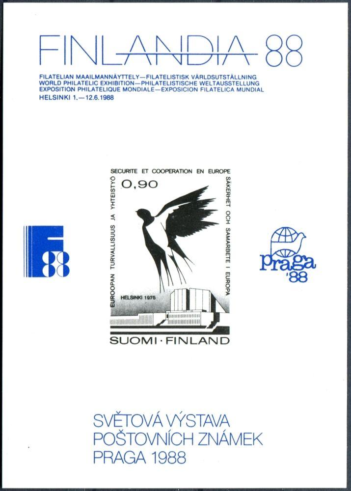 (1988) Pamětní list Finlandia 88 - Praga 88