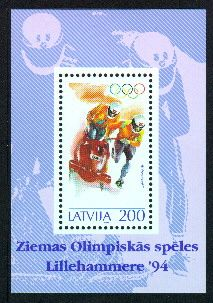 (1994) MiNr. 368 ** - Lotyšsko - BLOCK 4 - boby
