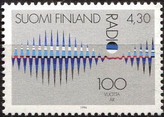 (1996) MiNr. 1345 ** - Finsko - 100 let rozhlasu (1995)