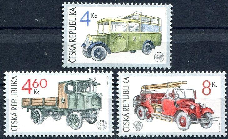 (1997) č. 159-161 ** - Česká rep. -  Historická užitková vozidla