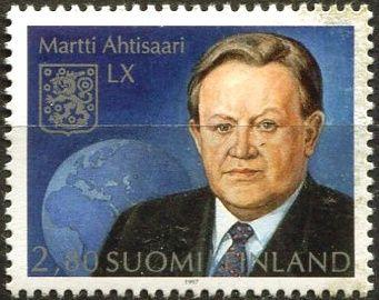(1997) MiNr. 1391 ** - Finsko - 60. narozeniny Martti Ahtisaari