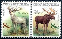 (1998) č. 181-182 ** - 8+8 Kč - ČR -  Los + jelen