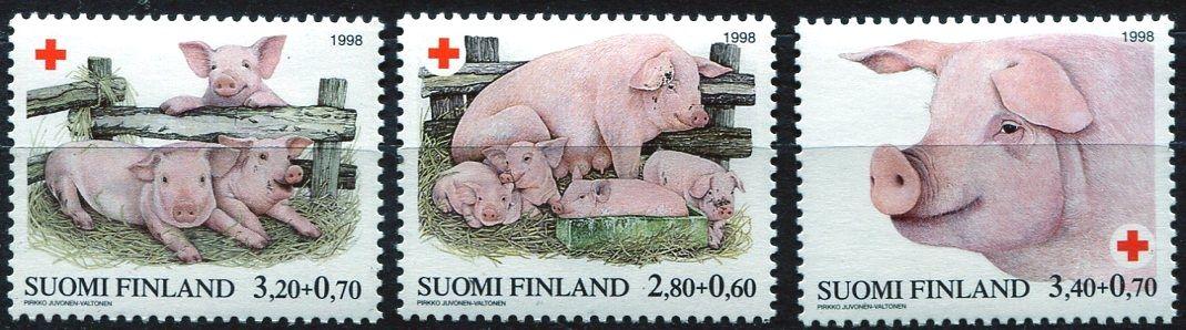 (1998) MiNr. 1427 - 1429 ** - Finsko - Červený kříž: Prase domácí