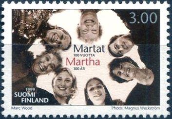 (1999) MiNr. 1473 ** - Finsko - 100 let Martha Bund