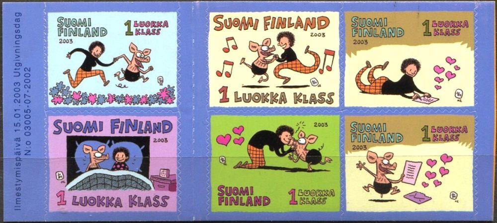 (2003) MiNr. 1635 - 1640 ** - Finsko -  Gratulační známky na Valentýna: V Přátelství
