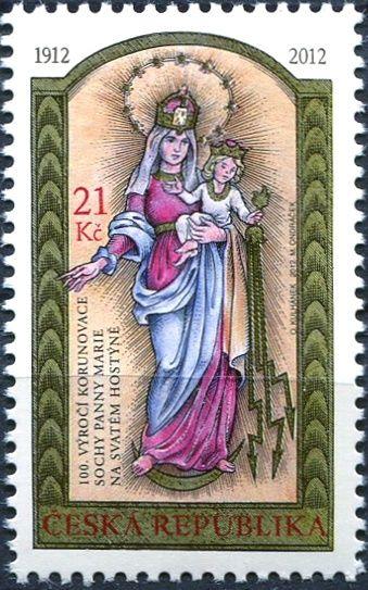 (2012) č. 725 ** - Česká republika - 100. výročí korunovace sochy Panny Marie na Svatém Hostýně