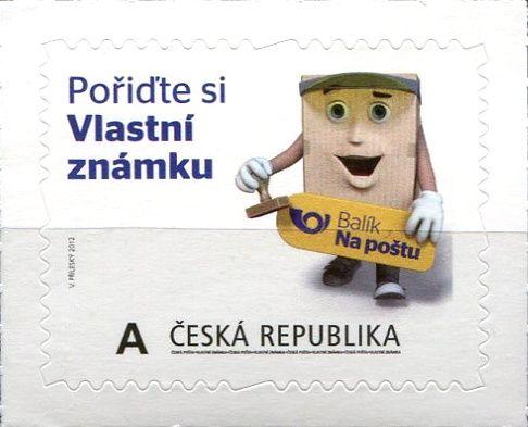 """(2012) č. 728 ** - Česká republika -  Vlastní známka """"A""""  Vzor na šířku"""