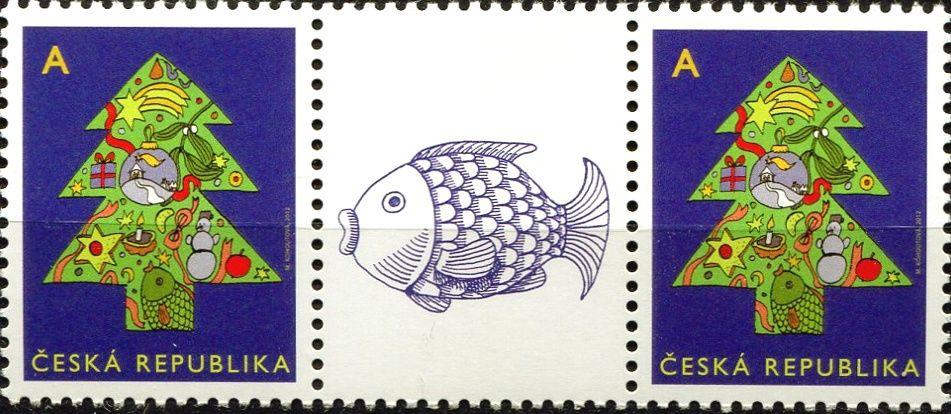 """Česká pošta (2012) č. 752 ** - ČR - Vánoční motiv """"A"""" - 1 + K1 + 1"""