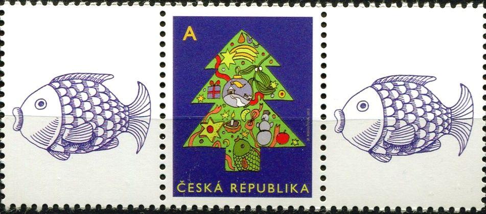 """Česká pošta (2012) č. 752 ** - ČR - Vánoční motiv """"A"""" - K1 + 1 + K1"""