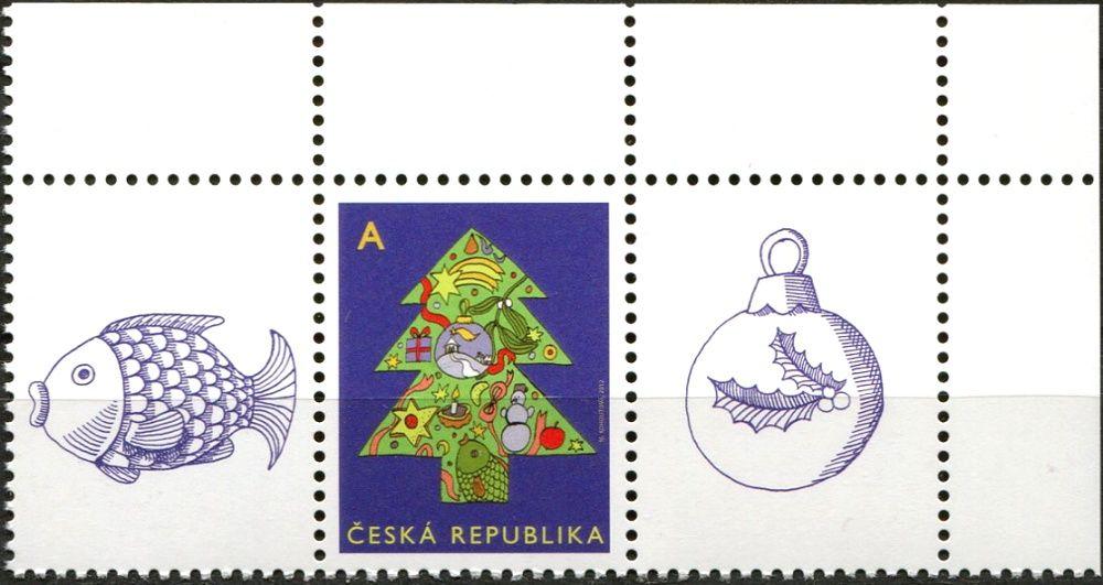 """Česká pošta (2012) č. 752 ** - ČR - Vánoční motiv """"A"""" - K1 + 1 + K2"""