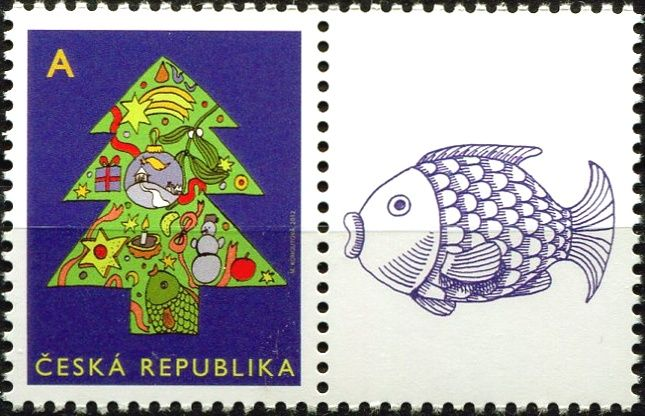 """Česká pošta (2012) č. 752 ** - ČR - Vánoční motiv """"A"""" - K1P"""
