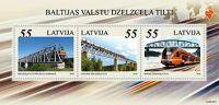 (2012) MiNr. 845 - 847 ** - Lotyšsko - BLOCK 31 - Železniční most