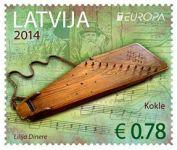 (2014) MiNr. 904 - 905 ** - Lotyšsko - Europa: Nástroje lidové hudby (2)