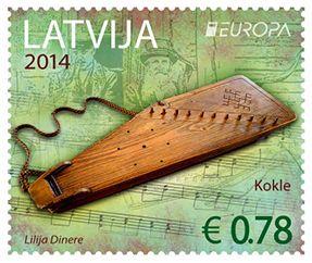 (2014) MiNr. 904 - 905 ** - Lotyšsko - Europa: Nástroje lidové hudby