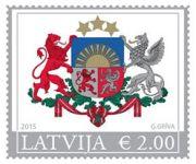 (2015) MiNr. 935 - 937 ** - Lotyšsko - erb