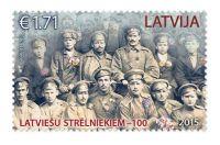 (2015) MiNr. 965 ** - Lotyšsko - 100. výročí založení lotyšských střelců