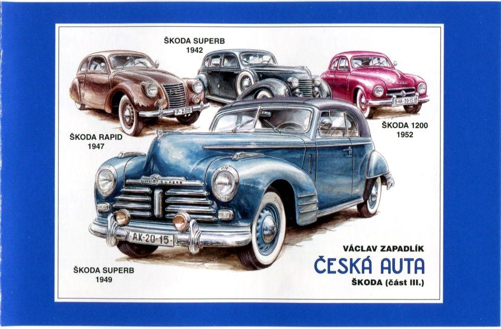 Česká pošta (2015) ZSn 857 - 858 ** - Česká auta - Škoda III - desky 1-4