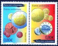 (2016) MiNr. 798 - 799 ** - € 0,80 + 0,80,- Andora (Fr.) -  1 rok € mincí