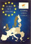 Karta na mince na 1 euro set - Kypr