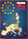 Karta na mince na 1 euro set - Slovensko